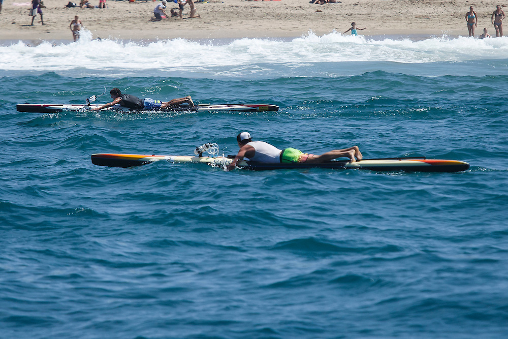 TKTKTK during the Catalina Classic Paddle board race between Two Harbors and the Manhattan Beach Pier on Sunday, August 30, 2015 in Two Harbors, Calif.  Paddlers start from Two Harbors on Catalina Island, traveling 32 miles through the Pacific Ocean in an endurance feat to end at the Manhattan Beach Pier. © 2015 Patrick T. Fallon