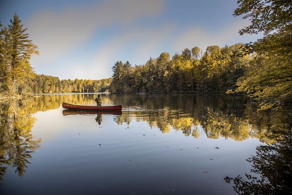 Canoeing in the Hiawatha National Forest of Michigan's Upper Peninsula.