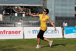 LIVERPOOL, ENGLAND - Monday, June 10, 2013: Hilton at corporate tennis tournament at Chavasse Park in Liverpool ONE ahead of the Liverpool Hope University International Tennis Tournament. (Pic by David Rawcliffe/Propaganda)
