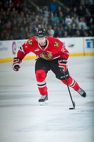 KELOWNA, CANADA - MAY 1: Oliver Bjorkstrand #27 of Portland Winterhawks skates with the puck against the Kelowna Rockets on May 1, 2015 at Prospera Place in Kelowna, British Columbia, Canada.  (Photo by Marissa Baecker/Getty Images)  *** Local Caption *** Oliver Bjorkstrand;
