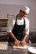 Male baker in his bakery