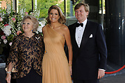 H.R.H. Princess Máxima of the Netherlands to Celebrate Her Birthday With a Few of Her Closest Royal Friends with a concert in the Concertbuilding in Amstyerdam.<br /> <br /> Her Royal Highness Princess Máxima of the Netherlands will be celebrating her 40th birthday in a concert of the Royal Concertgebouw Orchestra at the Concertgebouw in Amsterdam.<br /> <br /> Besides friends, family, members of foreign royal houses there will also be people there with whom she has worked with the for the past 10 years.<br /> <br /> On the Photo:<br /> <br />  Queen Beatrix , Princes Maxima and Prince Willem Alexander