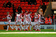 Kieran Sadlier of Doncaster Rovers Celebrates scoring a goal during the EFL Sky Bet League 1 match between Doncaster Rovers and Bristol Rovers at the Keepmoat Stadium, Doncaster, England on 26 March 2019.