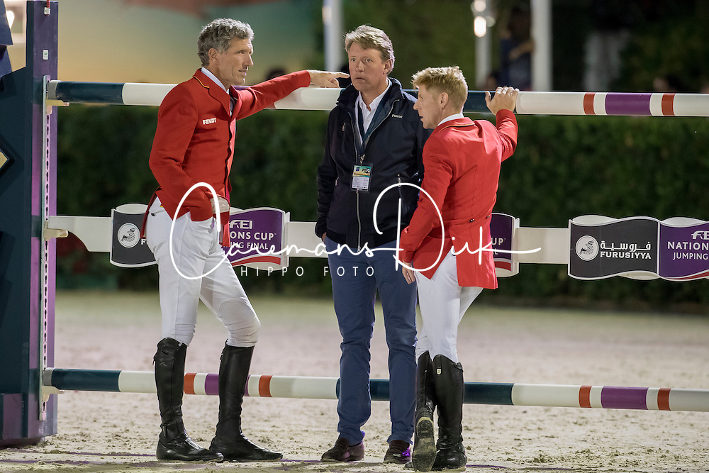 Beerbaum Ludger, Beerbaum Markus, Ehning Markus, GER<br /> Furusiyya FEI Nations Cup Jumping Final - Barcelona 2016<br /> © Hippo Foto - Dirk Caremans<br /> 24/09/16