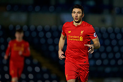 HIGH WYCOMBE, ENGLAND - Monday, March 6, 2017: Liverpool's Marko Grujic in action against Reading during the FA Premier League 2 Division 1 Under-23 match at Adams Park Stadium. (Pic by David Rawcliffe/Propaganda)