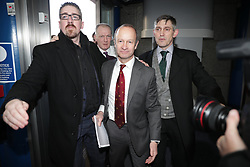 © Licensed to London News Pictures . 17/02/2018. Birmingham, UK. Henry Bolton arrives. The NEC of UKIP meet to decide leader Henry Bolton's fate as leader following a racism row over his girlfriend Jo Marney and controversy over his claimed qualifications whilst serving in the military . Photo credit: Joel Goodman/LNP