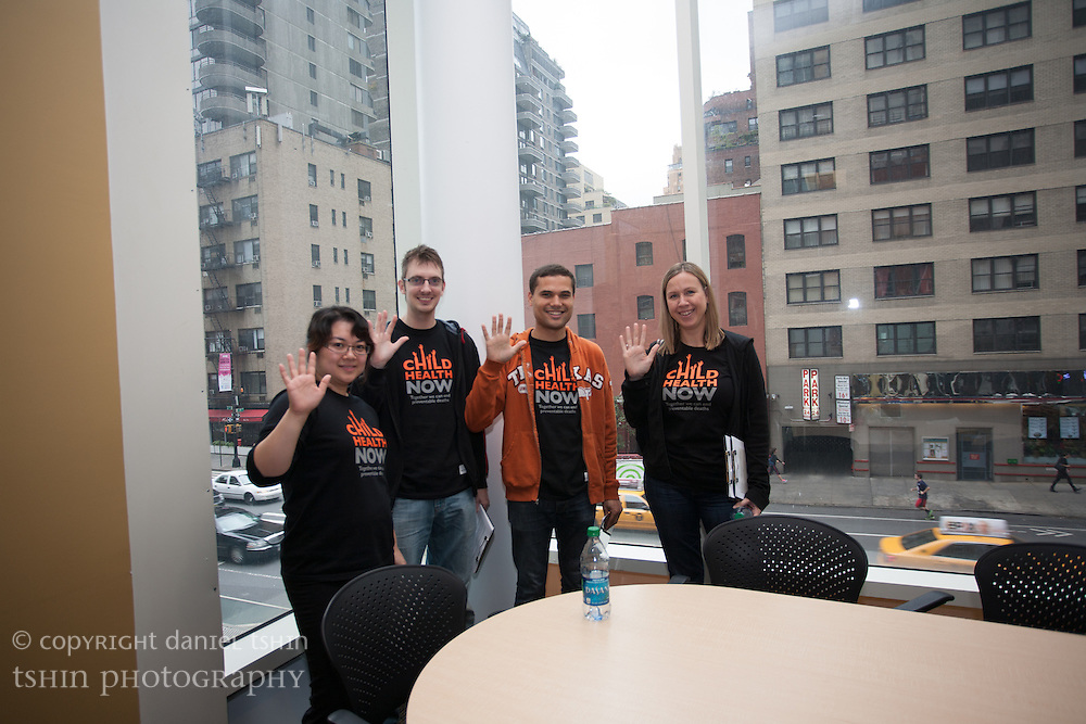 World Vision USA Team preparing for the Global Citizen Festival, New York City, 29 September 2012 at the World Vision NYC office