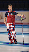 """Glasgow. SCOTLAND.  Norway, vice, Torger NERGAARD, watch's the play during the  """"Semi Final"""" Game.  Norway vs Switzerland, at the  Le Gruyère European Curling Championships. 2016 Venue, Braehead  Scotland<br /> Thursday  24/11/2016<br /> <br /> [Mandatory Credit; Peter Spurrier/Intersport-images]"""