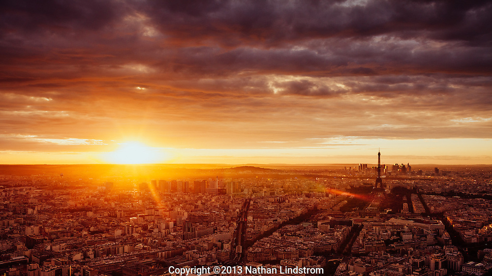Sunset in Paris.<br />