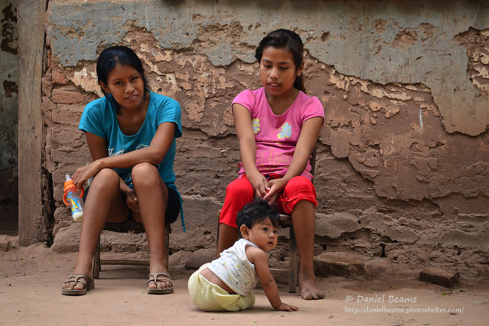 Guarani girls in Yapiroa, Izozog, Santa Cruz, Bolivia