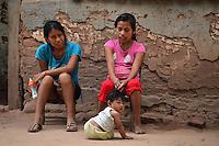Guarani girls in Yapiroa, Izozog, Santa Cruz, Bolivia
