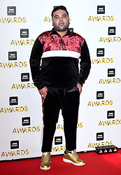 Naughty Boy attending the BBC Music Awards at the Royal Victoria Dock, London.