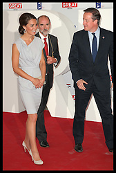 The Duchess of Cambridge and Prime Minister David Cameron at  a reception at the Royal Academy of Art's in London, Monday, 30th July 2012.  Photo by: Stephen Lock / i-Images