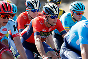 Vincenzo Nibali (ITA - Bahrain - Merida) red jersey, during the UCI World Tour, Tour of Spain (Vuelta) 2018, Stage 2, Marbella - Caminito del Rey 163.5 km in Spain, on August 26th, 2018 - Photo Luis angel Gomez / BettiniPhoto / ProSportsImages / DPPI