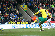 Picture by Paul Chesterton/Focus Images Ltd.  07904 640267.07/01/12.Grant Holt of Norwich misses a penalty with the score at 2-1 during the FA Cup third round match at Carrow Road Stadium, Norwich.