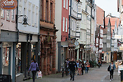 Barfüßerstraße, Oberstadt, Altstadt, Marburg, Hessen, Deutschland | Barfuesserstrasse, St. George statue, old town, Marburg, Hesse, Germany
