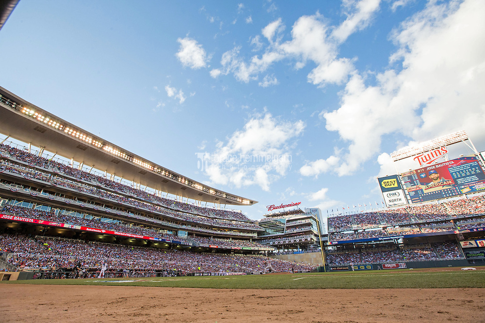 MINNEAPOLIS, MN- JULY 15: A general view of Target Field during the 85th MLB All-Star Game on July 15, 2014 in Minneapolis, Minnesota. (Photo by Brace Hemmelgarn) *** Local Caption ***