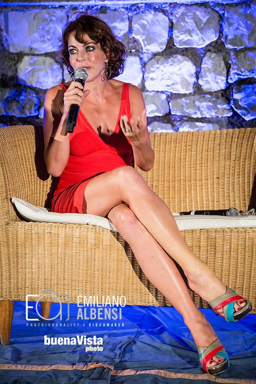 Maratea, Basilicata, Italia, 22/08/2014<br /> L'attrice romana Claudia Gerini alla Settimana del Cinema di Maratea<br /> <br /> Maratea, Basilicata, Italy, 22/08/2014<br /> The actress Claudia Gerini in Maratea for the Week of Cinema 2014