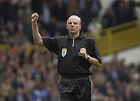 Picture: Henry Browne.Digitalsport<br /> Date: 03/04/2004.<br /> Tottenham Hotspur v Chelsea FA Barclaycard Premiership.<br /> <br /> Ref S Bennett does not award Spurs a penalty after a Chelsea handball.