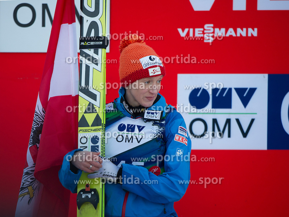 01.02.2014, Energie AG Skisprung Arena, Hinzenbach, AUT, FIS Ski Sprung, FIS Ski Jumping World Cup Ladies, Hinzenbach, Wettkampf im Bild #45 Daniela Iraschko-Stolz (AUT) // during FIS Ski Jumping World Cup Ladies at the Energie AG Skisprung Arena, Hinzenbach, Austria on 2014/02/01. EXPA Pictures © 2014, PhotoCredit: EXPA/ Reinhard Eisenbauer