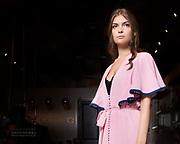 Houston fashion model Abby Bagley on the runway for Houston Fashion Week, by Gerard Harrison.