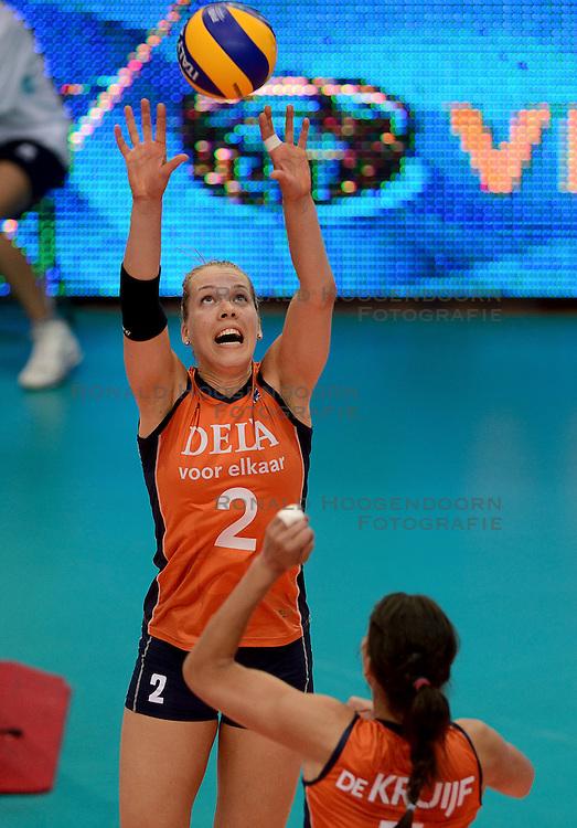 23-09-2014 ITA: World Championship Nederland - Kazachstan, Verona<br /> Nederland wint de opening wedstrijd met 3-0 / Femke Stoltenborg
