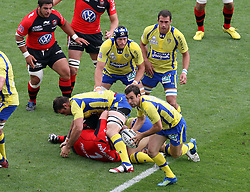 Morgan Parra of Clermont in action during the French Top 14 Semi Final match between ASM Clermont Auvergne and RC Toulon at the Stade Municipal on June 3, 2012 in Toulouse, France.