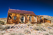 Weathered house, Bodie State Historic Park, California USA