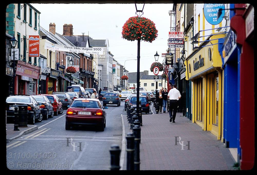 Street scene in town of Navan; Meath, Ireland.