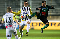 10.03.2019, TGW Arena, Pasching, AUT, 1. FBL, LASK vs FC Wacker Innsbruck, 21. Runde, im Bild v.l. Maximilian Ullmann (LASK Linz), Emanuel Pogatetz (LASK Linz), Sascha Horvath (FC Wacker Innsbruck) // during the tipico Bundesliga 21th round match between LASK and FC Wacker Innsbruck at the TGW Arena in Pasching, Austria on 2019/03/10. EXPA Pictures © 2019, PhotoCredit: EXPA/ Roland Hackl