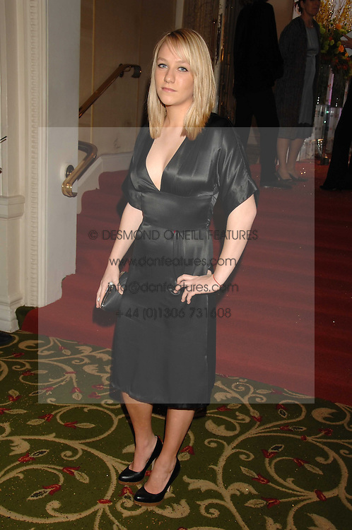 CHLOE MADLEY daughter of TV presenters Richard Madley and Judy Finnegan at the Galaxy British Book Awards 2007 - The Nibbies held at the Grosvenor house Hotel, Park Lane, London on 28th March 2007.<br />