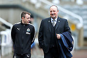 Newcastle United manager Rafael Benitez arrives ahead of the Premier League match between Newcastle United and Huddersfield Town at St. James's Park, Newcastle, England on 31 March 2018. Picture by Craig Doyle.