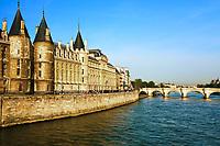 la Conciergerie Paris la seine  riverside france Pont Neuf