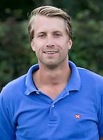 BLOEMENDAAL - assisten coach Warner van der Vegt,  HC Bloemendaal , seizoen 2012-2013. COPYRIGHT KOEN SUYK