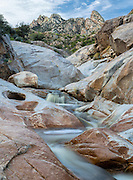 Tiered cascades along Romero Creek at Romero Pools, Santa Catalina Mountains, Tucson