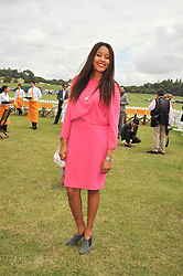 Singer & songwriter V V BROWN at the 2009 Veuve Clicquot Gold Cup Polo final at Cowdray Park Polo Club, Midhurst, West Sussex on 19th July 2009.