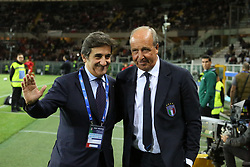 October 6, 2017 - Turin, Piedmont, Italy - Urbano Cairo, presoident of Torino FC and Giampiero Ventura, head coach of Italy, before the FIFA World Cup European Qualifying match between Italy and FYR Macedonia at Olympic Grande Torino Stadium on 6 October, 2017 in Turin, Italy. (Credit Image: © Massimiliano Ferraro/NurPhoto via ZUMA Press)