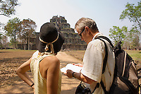 Tourists Looking at at Temple Ruins