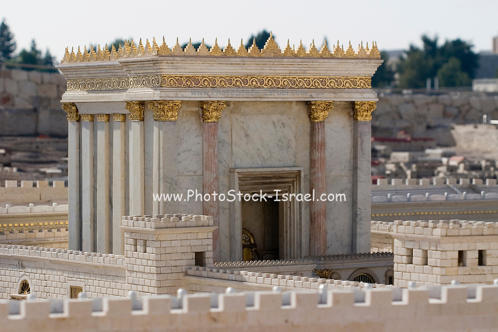 "Israel, Jerusalem, ""The Temple of Solomon"". A model in the Israel Museum, Israel."