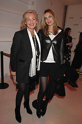 Left to right, AMANDA ELIASCH and KIM HERSOV at the Art Plus Drama party Held at the Whitechapel Art Gallery, London E1 on 8th March 2007. <br />