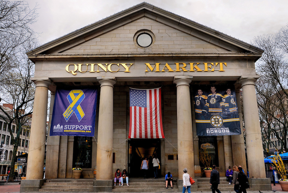 Quincy Market in Boston, Massachusetts  <br />