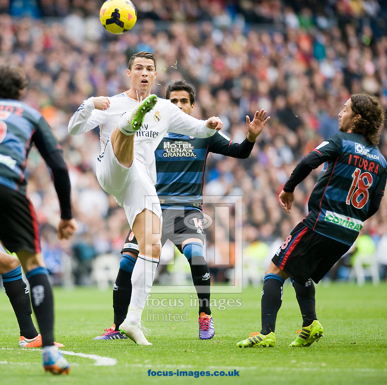 Picture by Marcos Calvo Mesa/Focus Images Ltd +34 654142934<br /> 25/01/2014<br /> Cristiano Ronaldo of Real Madrid during the La Liga match at the Estadio Santiago Bernabeu, Madrid.