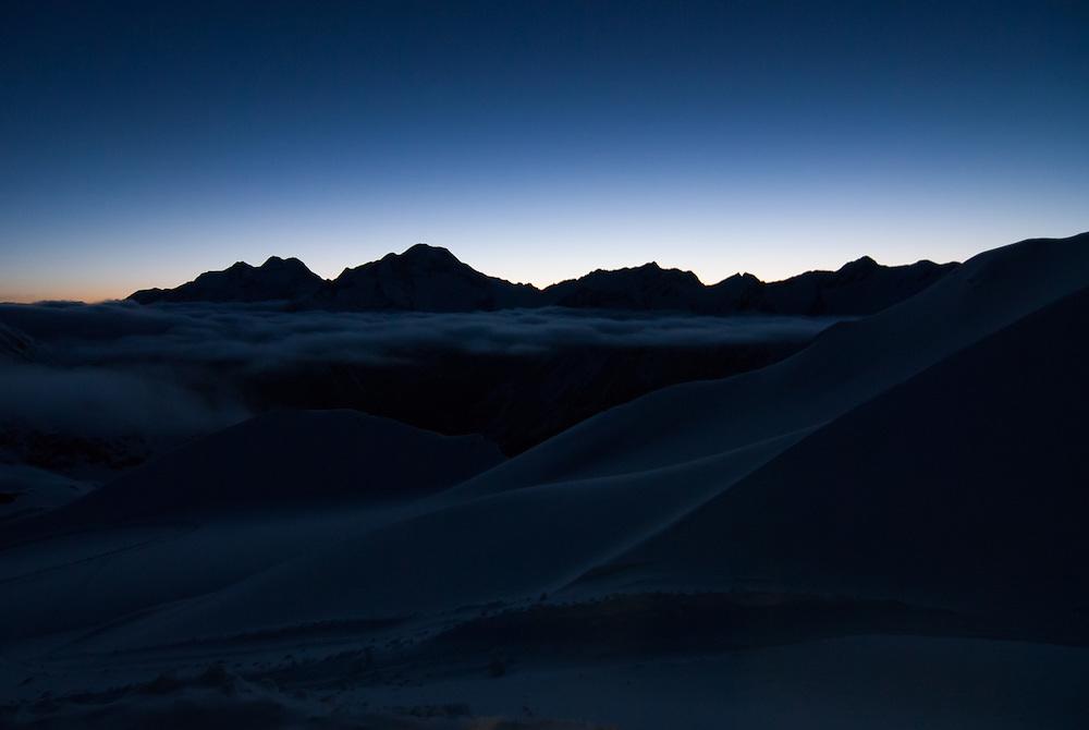 Sunrise over Valais Alps