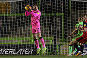 Forest Green Rovers goalkeeper James Montgomery during the EFL Sky Bet League 2 match between Forest Green Rovers and Grimsby Town FC at the New Lawn, Forest Green, United Kingdom on 22 January 2019.