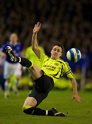LIVERPOOL, ENGLAND - Thursday, April 17, 2008: Chelsea's captain John Terry in action against Everton during the Premiership match at Goodison Park. (Photo by David Rawcliffe/Propaganda)