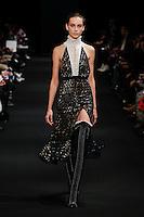 Julia Bergshoeff (DNA) walks the runway wearing Altuzarra Fall 2015 during Mercedes-Benz Fashion Week in New York on February 14, 2015