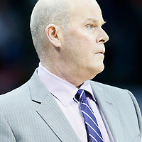 01 November 2015: Charlotte Hornets head coach Steve Clifford is seen during the Atlanta Hawks 94-92 victory over the Charlotte Hornets, at the Time Warner Cable Arena, in Charlotte, North Carolina, USA.