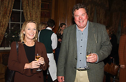 MRS SHASTI ALSTRUP and ANTHONY CAZALET at a private view of jewellery designed and made by Luis Miguel Howard held at 30 Pavillion Road, London on 27th October 2004.<br /><br />NON EXCLUSIVE - WORLD RIGHTS