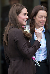 LONDON- UK- 16-JAN-2015- Britain's Catherine, The Duchess of Cambridge attends an event hosted by The Fostering Network to celebrate the work of foster carers in providing support to vulnerable young people. Her Royal Highness will be given an overview of the world of fostering by meeting care leavers and social workers before joining a reception for people involved in fostering. <br /> Photograph by Ian Jones