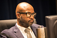 Councilmember Jason Williams explains his 'Yes' vote on Entergy's proposed natural gas power plant in New Orleans East at a New Orleans City Council meeting. The city voted to approve Entergy's project despite a lot of opposition. The City Council is now facing lawsuits over its decision.